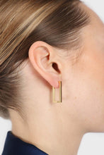 Load image into Gallery viewer, Gold perfect rectangle earrings2