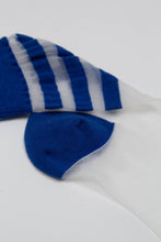 Load image into Gallery viewer, Cobalt sheer triple stripe socks_PFDBA1