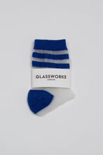 Load image into Gallery viewer, Cobalt sheer triple stripe socks_PFFBA1