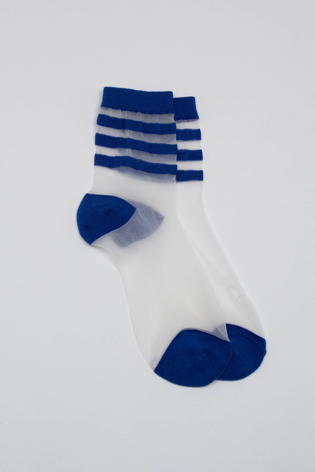 Cobalt sheer triple stripe socks_PFFBA2