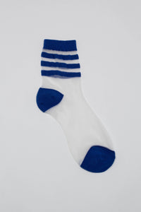 Cobalt sheer triple stripe socks_PFFBA3