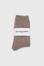 Load image into Gallery viewer, Cocoa angora smooth socks2