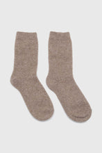 Load image into Gallery viewer, Cocoa angora smooth socks3