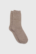 Load image into Gallery viewer, Cocoa angora smooth socks1sx
