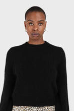 Load image into Gallery viewer, Black balloon sleeve angora jumper2
