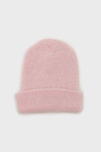 Load image into Gallery viewer, Pale pink mohair beanie hat3