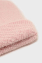Load image into Gallery viewer, Pale pink mohair beanie hat4
