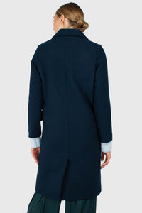 Marine blue wool double breasted coat2