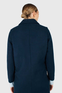 Marine blue wool double breasted coat3