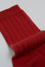 Load image into Gallery viewer, Red giant rib socks_PFDBA1