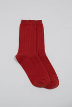 Load image into Gallery viewer, Red giant rib socks_PFFBA2