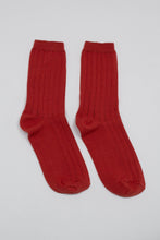Load image into Gallery viewer, Red giant rib socks_PFFBA3