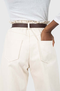 Ivory boy fit brown belted trousers5