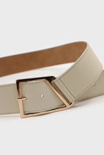 Load image into Gallery viewer, Ivory genuine leather gold buckle belt2