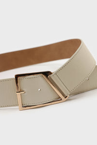 Ivory genuine leather gold buckle belt2