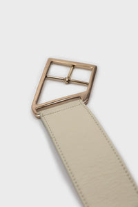 Ivory genuine leather gold buckle belt3