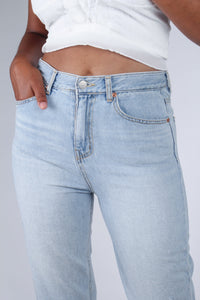Light blue slit loose fit jeans - 5138_3
