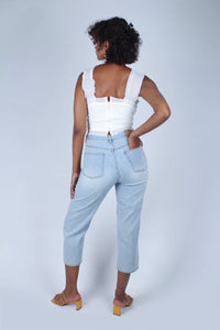 Light blue slit loose fit jeans - 5138_4