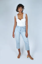 Load image into Gallery viewer, Light blue slit loose fit jeans - 5138_1