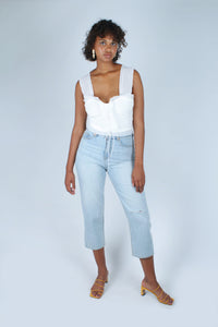 Light blue slit loose fit jeans - 5138_1
