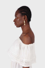 Load image into Gallery viewer, Ivory ruffle off shoulder jumpsuit6
