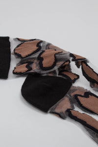 Black large leopard sheer socks_PFDBA1