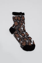 Load image into Gallery viewer, Black large leopard sheer socks_PFFBA2