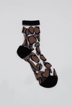 Load image into Gallery viewer, Black large leopard sheer socks_PFFBA3
