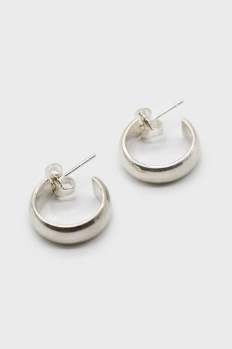 Silver thick hoop glossy earrings - 15mm1sx
