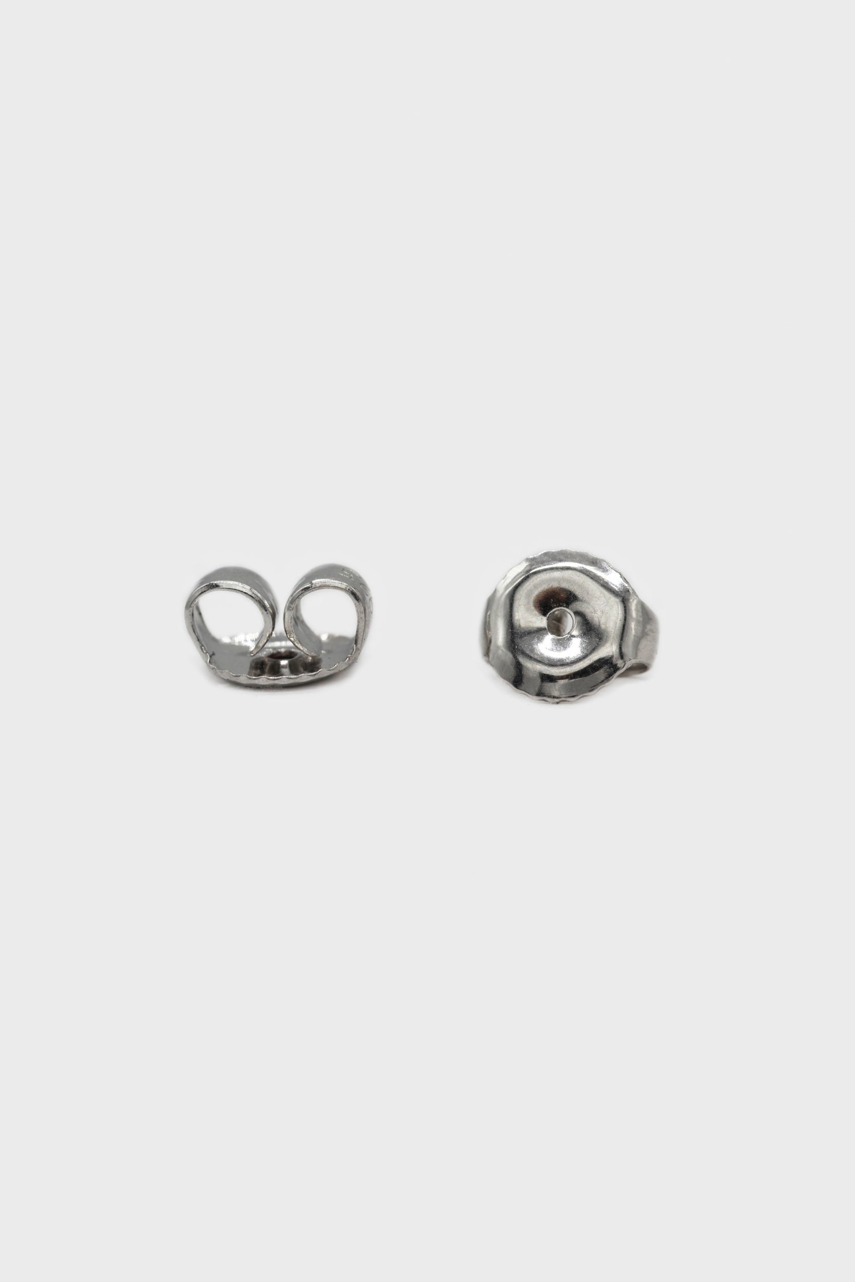 Silver thick hoop glossy earrings - 15mm