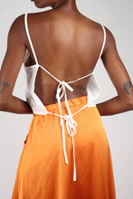 Load image into Gallery viewer, Ivory strappy open back tank_1