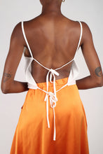 Load image into Gallery viewer, Ivory strappy open back tank_7