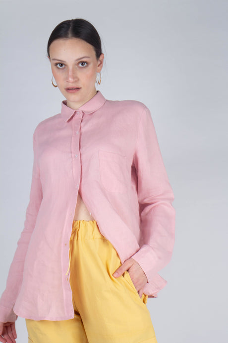 21145_Pale pink simple linen shirt_MCFBA1