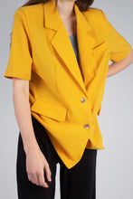 Load image into Gallery viewer, Bright yellow flap pocket oversized jacket_MCFBA2