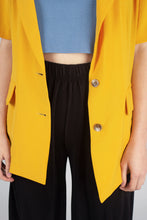 Load image into Gallery viewer, Bright yellow flap pocket oversized jacket_MFSBA1