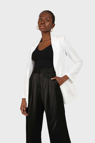White single breasted tailored blazer 3