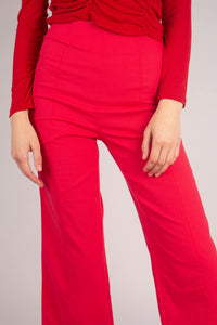 21316_Bright red linen boot cut trousers_MCFBA2