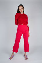 Load image into Gallery viewer, 21316_Bright red linen boot cut trousers_MFFBA1