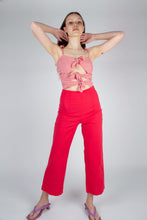 Load image into Gallery viewer, 21316_Bright red linen boot cut trousers_MFFBA2