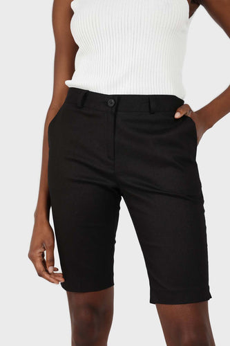 Black side pocket fitted shorts sx