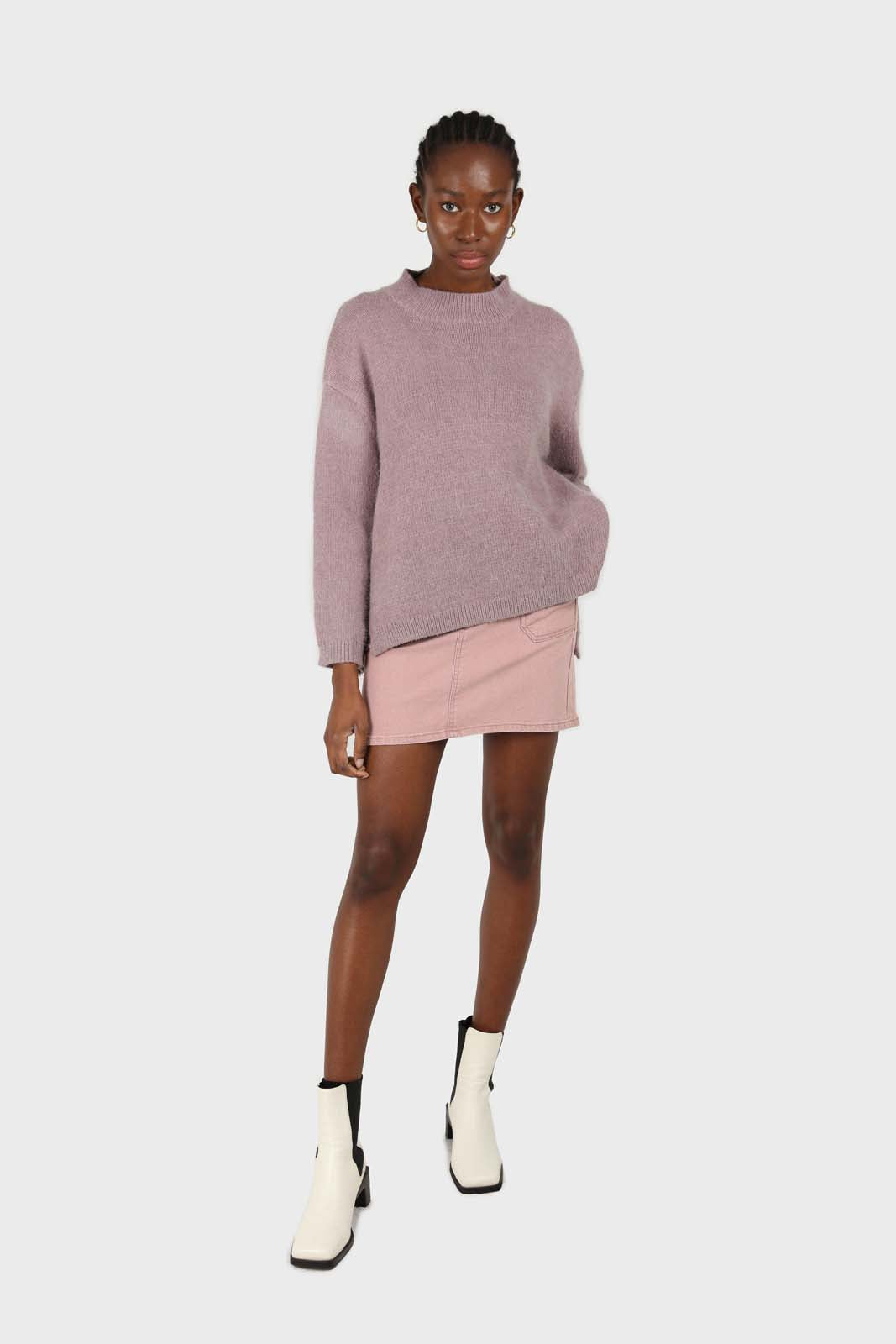 Pink patch pocket mini skirt3