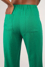 Load image into Gallery viewer, Bright green wide leg linen trousers_3