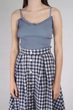 Load image into Gallery viewer, Navy and white gingham midi flare skirt_MCFBA1