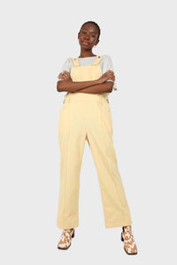 Pale yellow front patch pocket jumpsuit2
