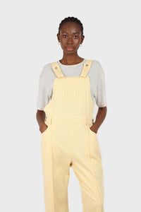Pale yellow front patch pocket jumpsuit3