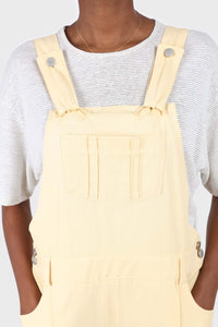 Pale yellow front patch pocket jumpsuit6