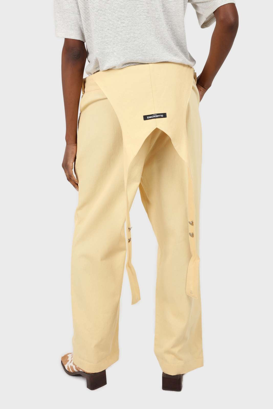 Pale yellow front patch pocket jumpsuit7