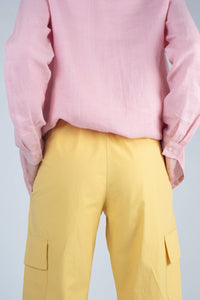 21488_Yellow ruched hem cargo trousers_MCBBA2