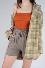 Load image into Gallery viewer, Khaki ruched waist wide leg shorts_MCFBA1
