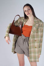 Load image into Gallery viewer, Khaki ruched waist wide leg shorts_MSTBA1